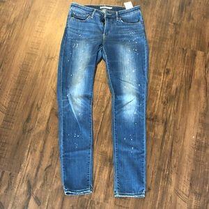 Levi's 711 Skinny Paint Splatter Jeans
